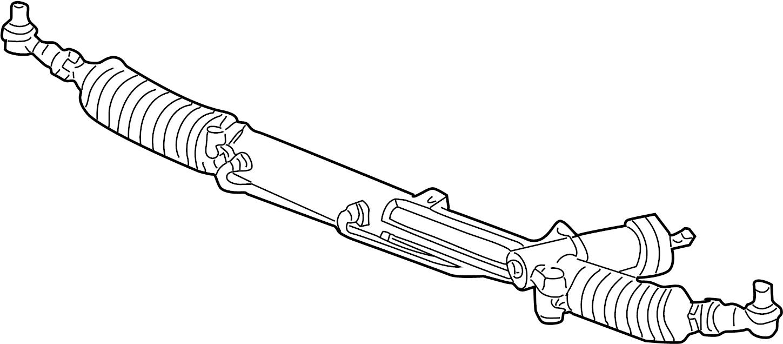 Audi A4 Quattro Avant Steering gear with inner tie rod