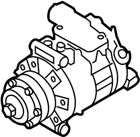 Audi A6 Quattro Air conditioner compressor. REFRIGERANT