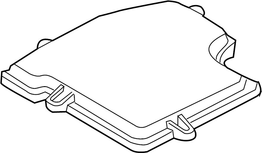 Audi A4 Cabriolet Cover. Engine Control Module. Fuse Box