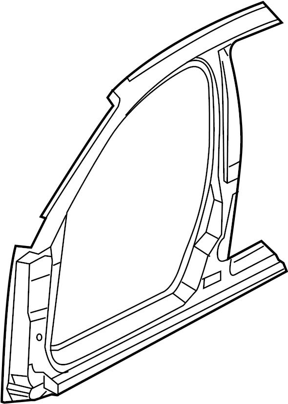 2006 Audi A4 Quattro Avant Sectional part-pillar a/b with