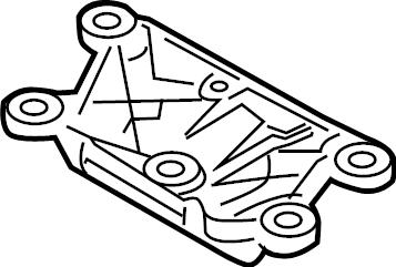 2013 Audi S5 Automatic Transmission Mount Bracket. Manual