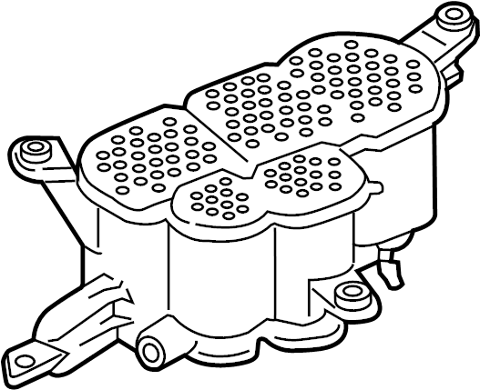 2012 Audi Q5 Evaporative emission canister. ACTIVATED