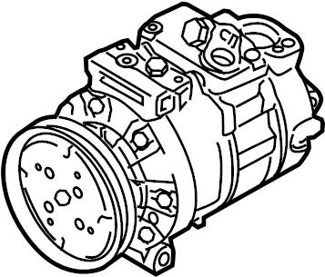 Audi A3 Air conditioner compressor. REFRIGERANT COMPRESS