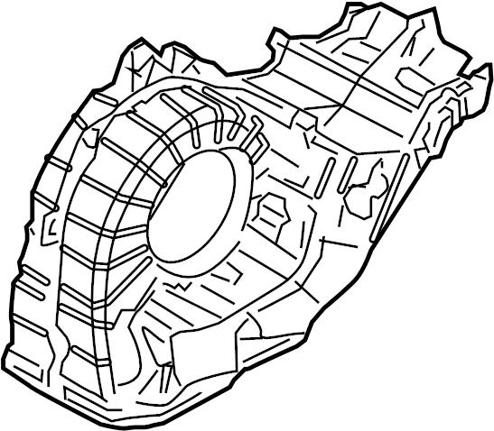 2007 Audi Q7 4.2L Evaporator housing air distribution