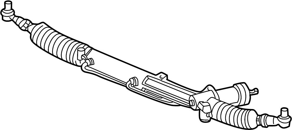 Audi A4 Quattro Avant Steering gear with inner tie rod