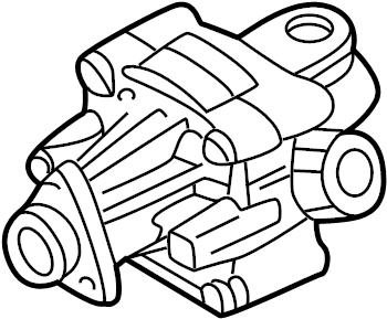 1997 Audi Power steering pump. VANE TYPE PUMP. HYDRAULIC