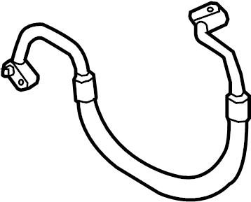 2011 Audi A3 Air conditioner hose (air conditioner