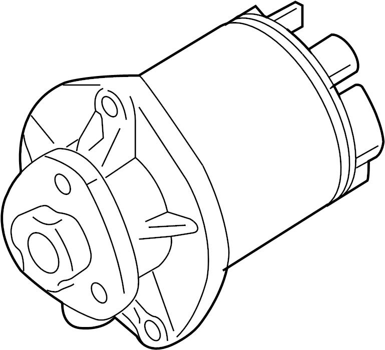 2008 Audi TT Roadster Water pump with adhesive gasket