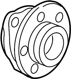 2015 Audi S3 Front hub & bearing. Hub & bearing. Wheel