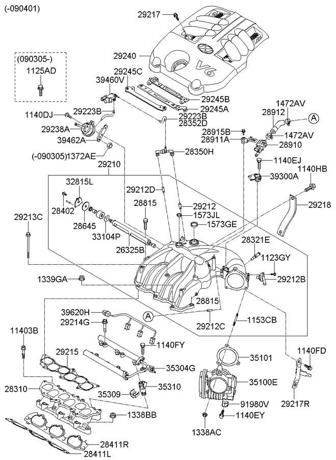 Hyundai Santa Fe INTAKE MANIFOLD (3.3L-LAMBDA)