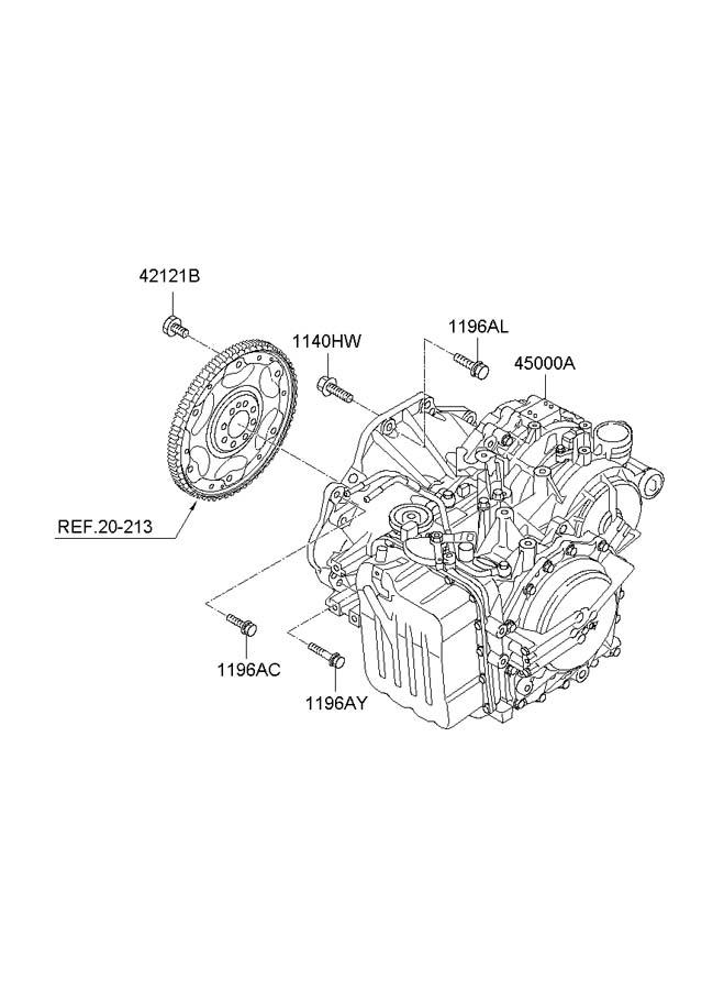 Hyundai Santa Fe Automatic transmission assembly & torque