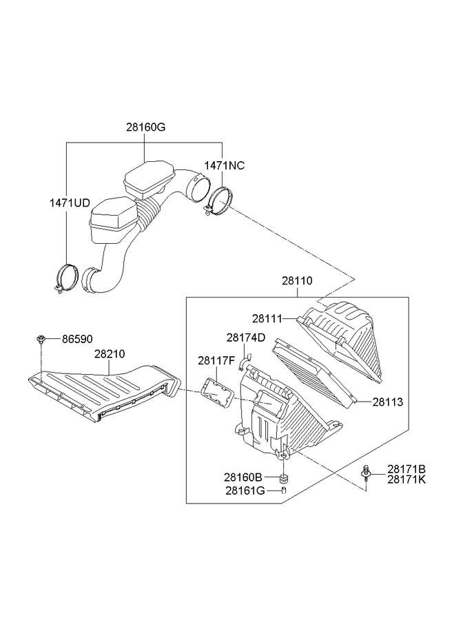 Hyundai AIR INTAKE SYSTEM (2.4L-THETA2)