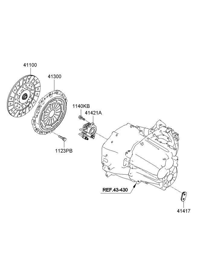 2012 Hyundai Sonata CLUTCH RELEASE FORK (MANUAL TRANSMISSION)