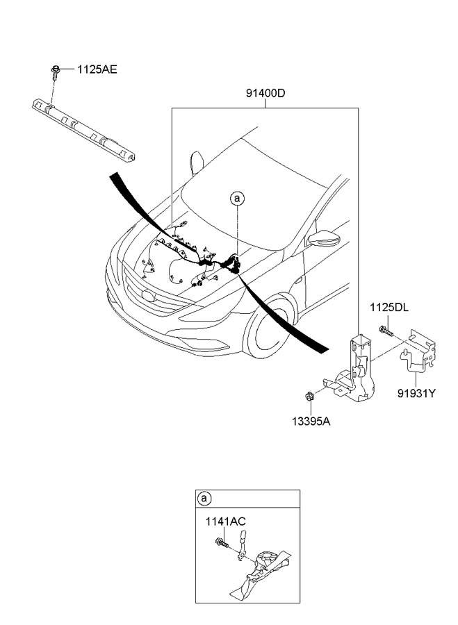2018 Hyundai Sonata Engine harness. Engine Wiring Harness