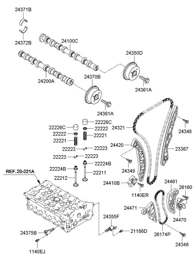 2008 Hyundai Sonata Oil control valve assembly