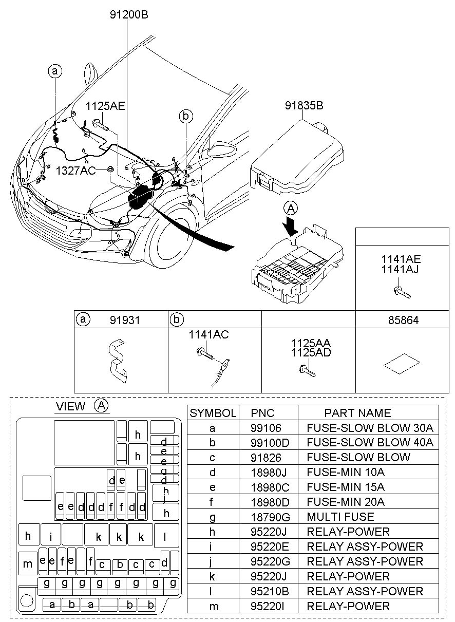 2005 hyundai tucson inside fuse box diagram