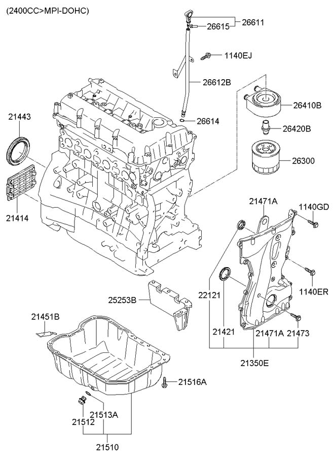 Service manual [Oil Pan Removal 2007 Hyundai Accent