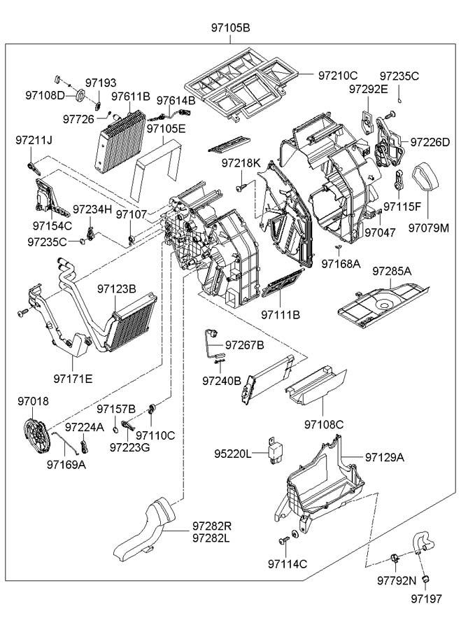 Hyundai Sonata Actuator assembly. Systemhtr, condual