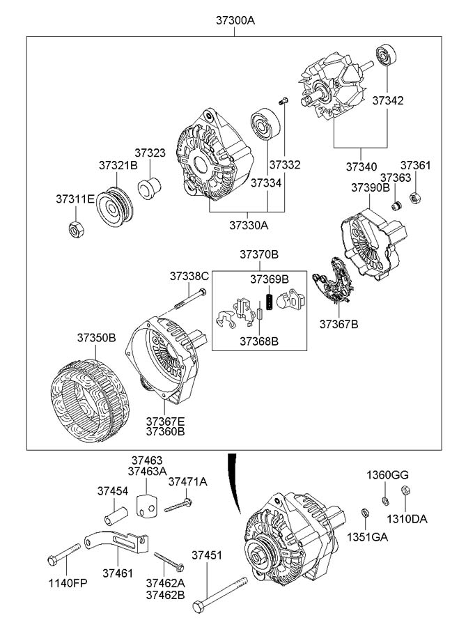 Hyundai Accent Nut. Ams, micom, tcimpi, generator