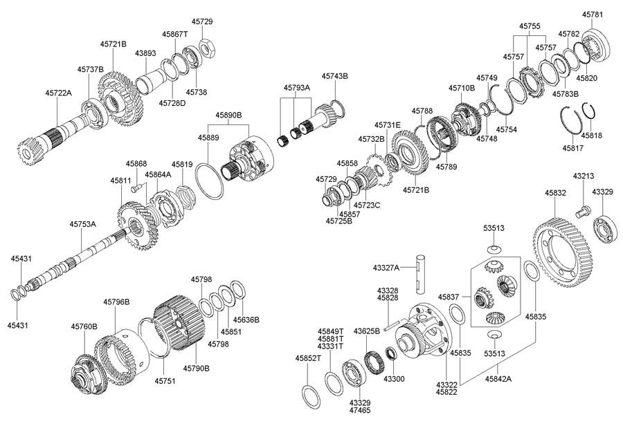 Hyundai TRANSAXLE GEAR(ATA)