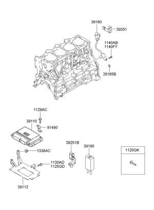 3919023000  Hyundai Resistor  wdiode Bell, chime