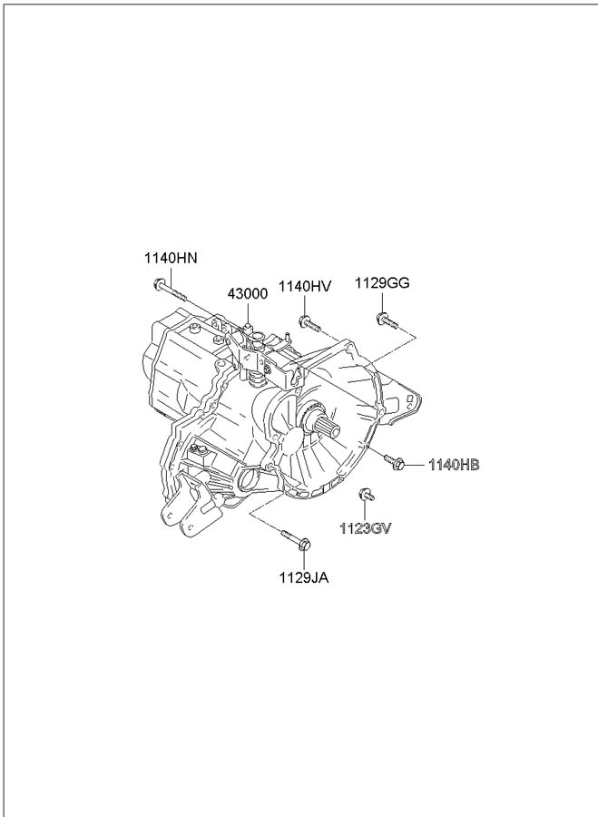 2002 Hyundai Elantra Transaxle. Transmission assembly