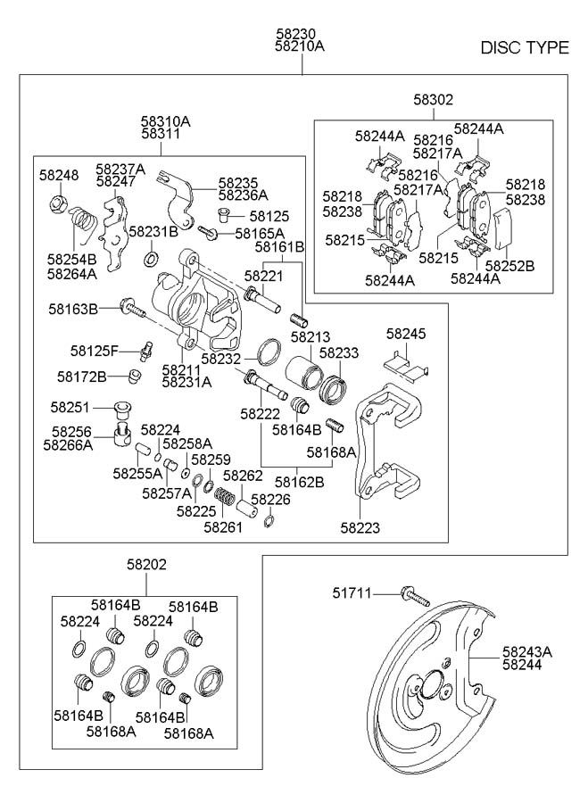 [2005 Hyundai Elantra Diagram Showing Brake Line