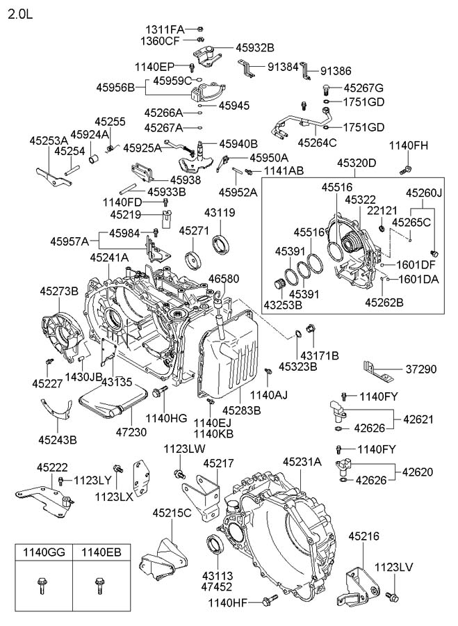 [Exploded View 2005 Hyundai Tucson Manual Transmission