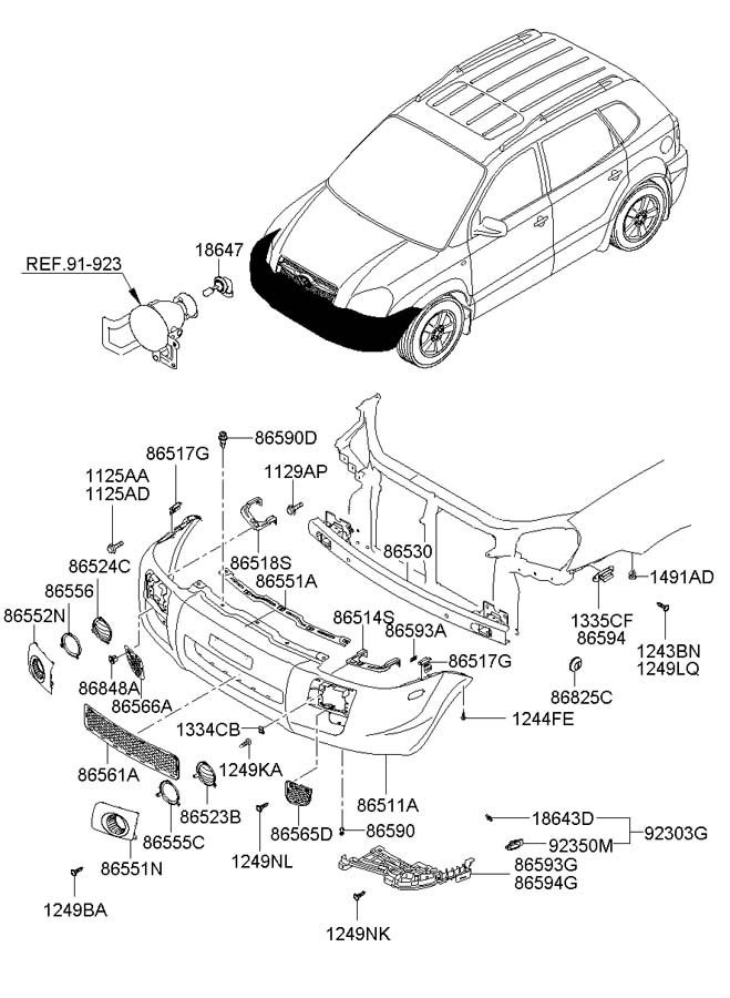 Hyundai FRONT BUMPER