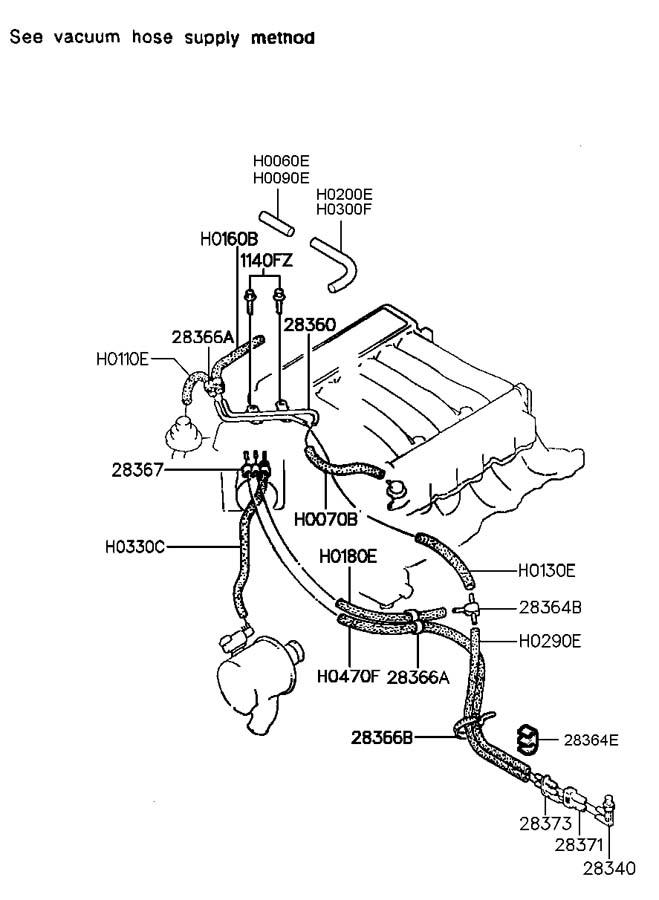 Hyundai Santa Fe VACUUM HOSE(V6,SOHC)