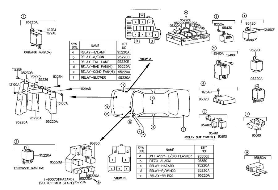 1995 Hyundai Accent RELAY & MODULE