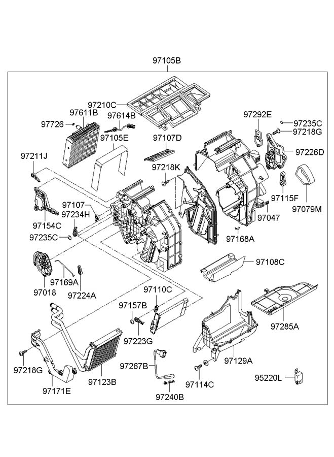 2006 Hyundai Sonata HEATER SYSTEM-HTR & EVAPORATOR