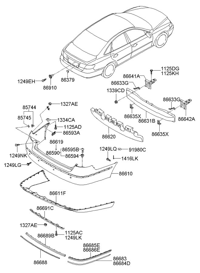 2007 Hyundai Azera Clip. Chromecr, mfr, garnishside