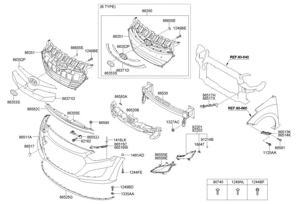 medium resolution of 2013 hyundai elantra front bumper parts diagram hyundai 2001 hyundai xg300 fuse box diagram hyundai xg350