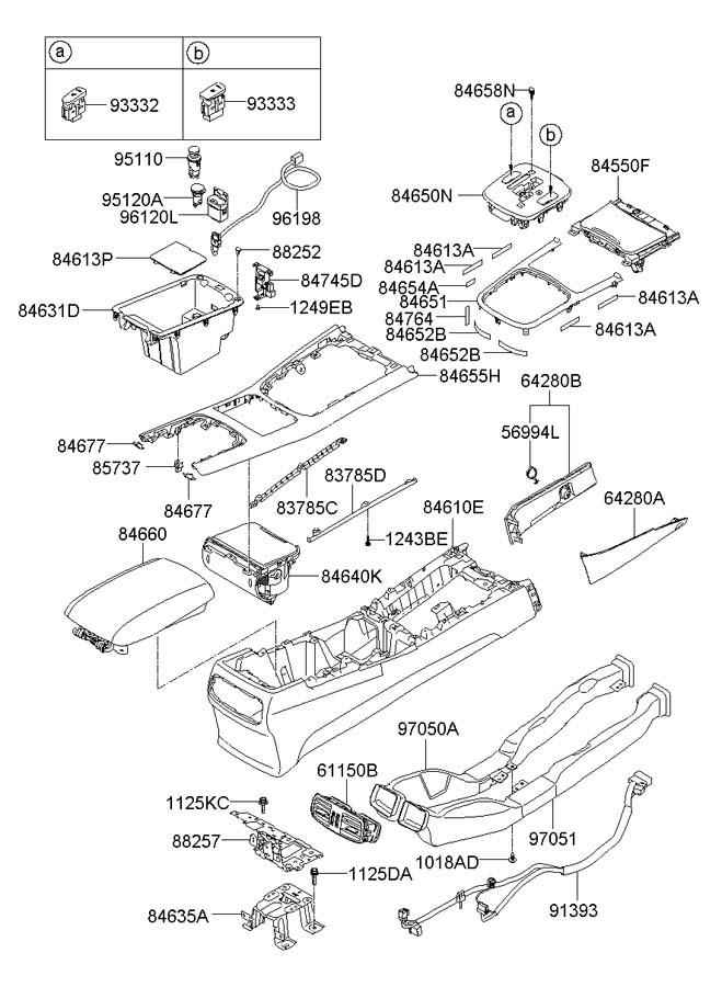 2019 Hyundai Tucson 12 volt accessory power outlet (rear