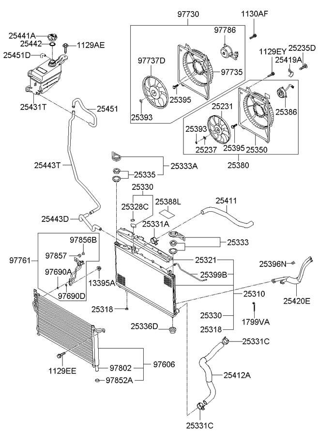 Hyundai Santa Fe COOLING SYSTEM