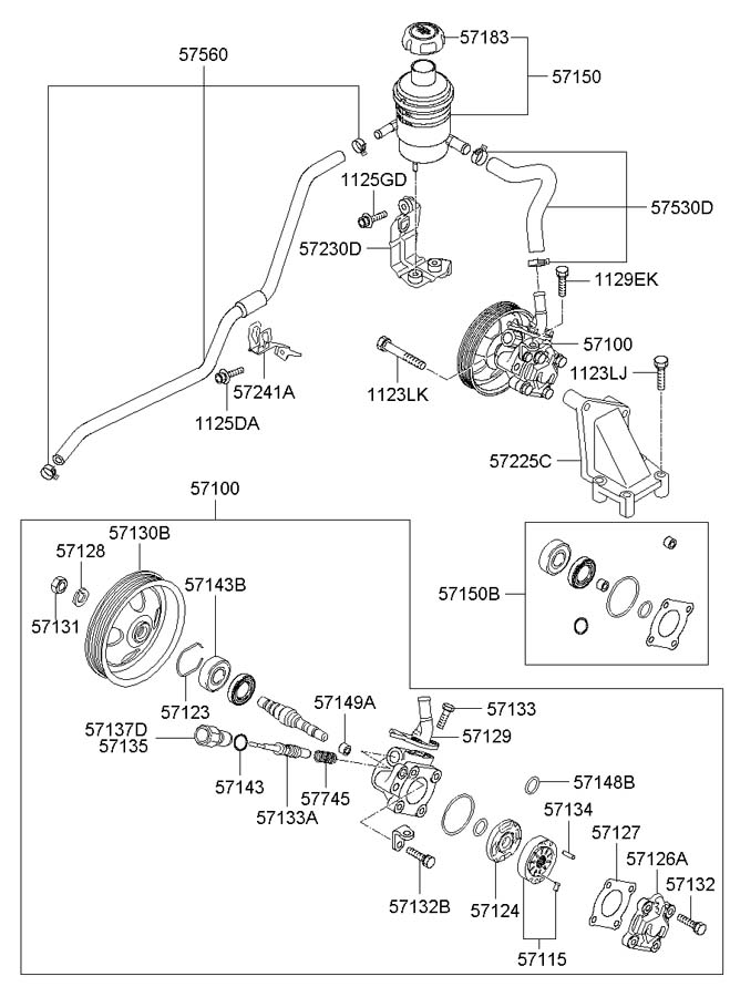 Hyundai Santa Fe Power Steering Reservoir Cap. 1.6 LITER