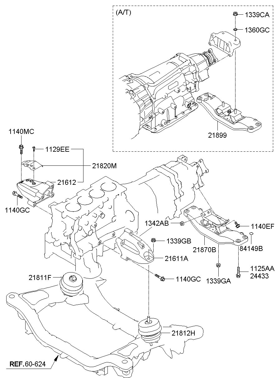 Hyundai Genesis Coupe Transmission. Mount. BRACKET