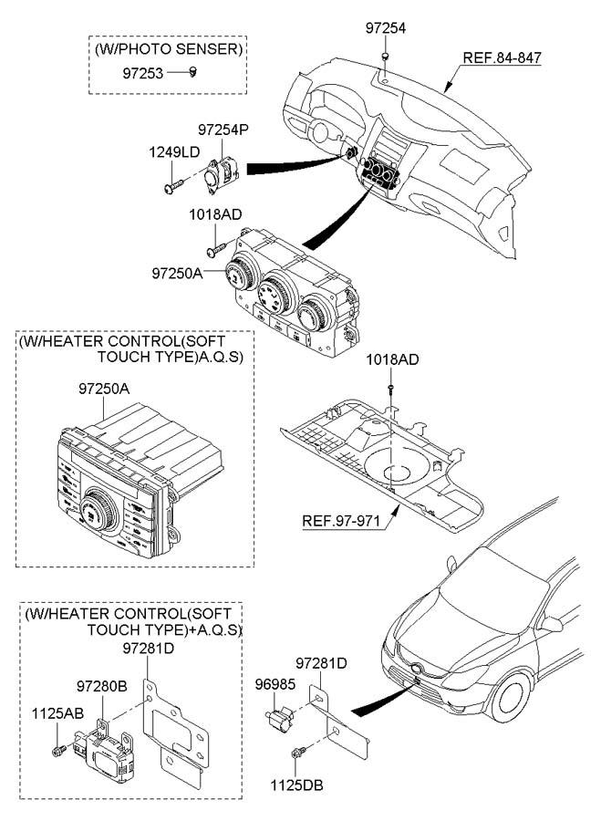 2007 Hyundai Veracruz HEATER SYSTEM-CONTROL