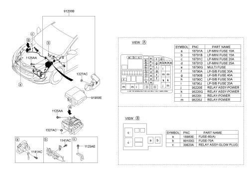 small resolution of 2012 hyundai sonata fuse box relay box wiring