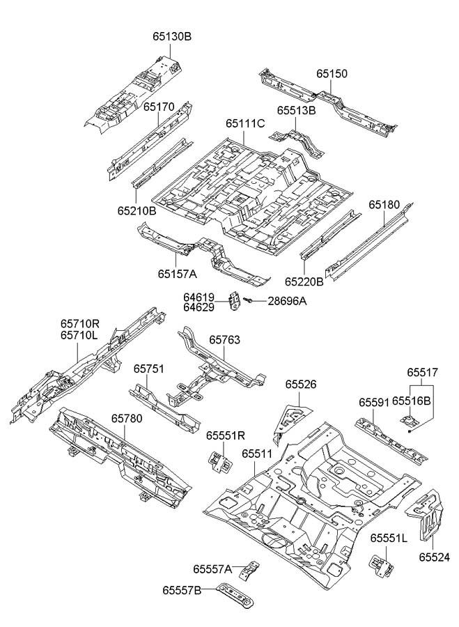 Hyundai Tiburon Crossmember assembly rear ( rear (rr