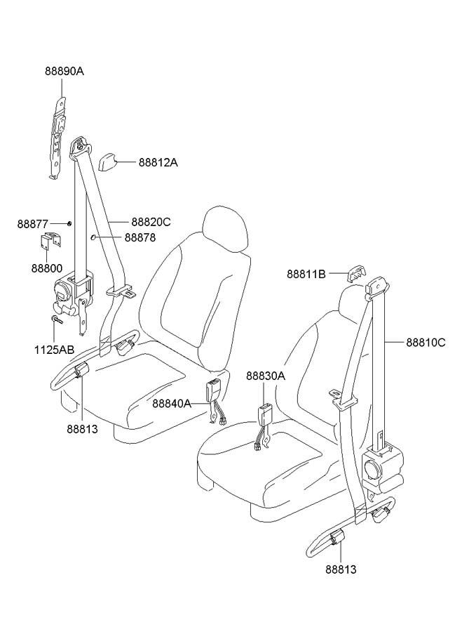 Service manual [2008 Hyundai Tiburon Repair Seat Belt