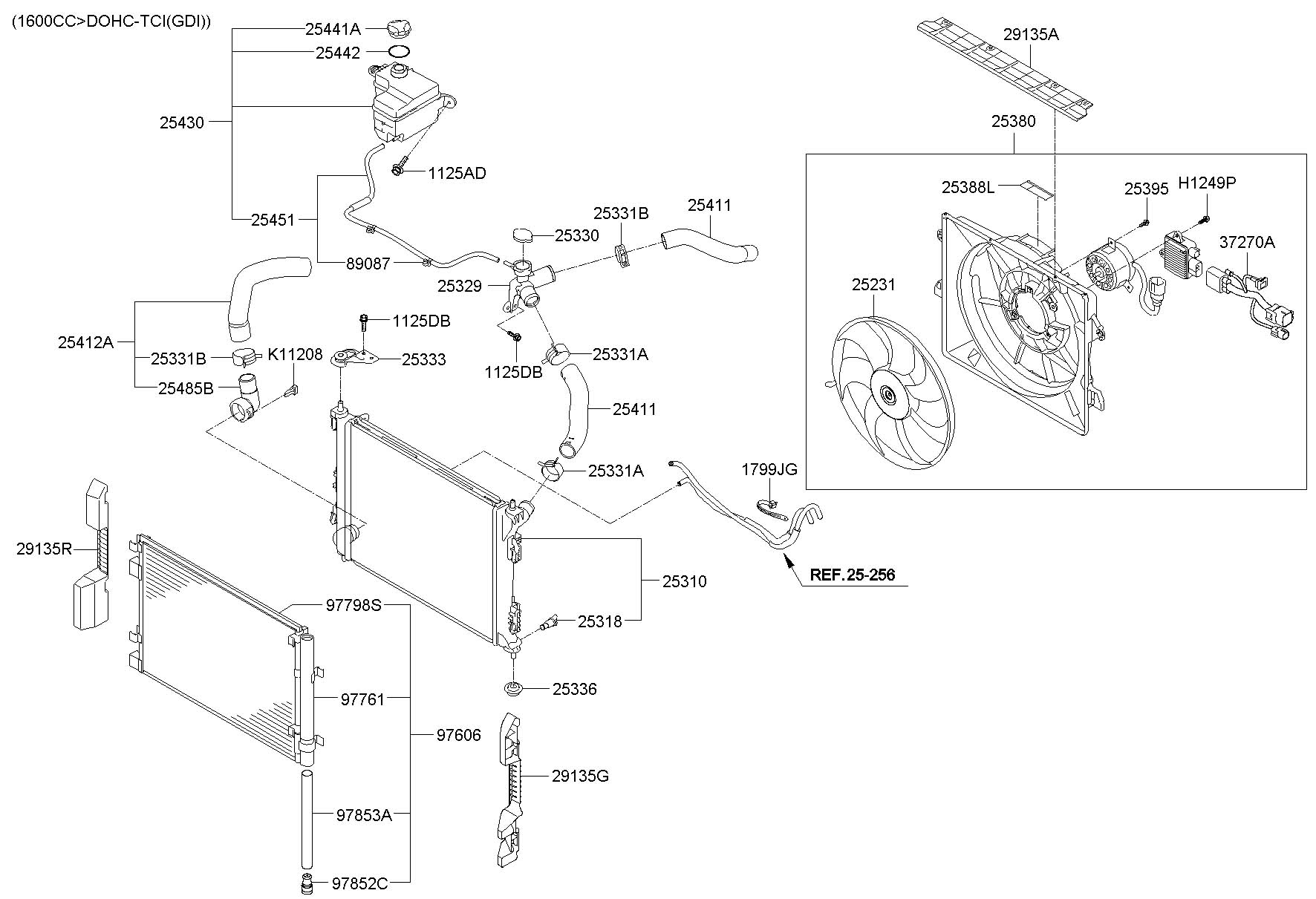 2011 Hyundai VELOSTER COOLING SYSTEM