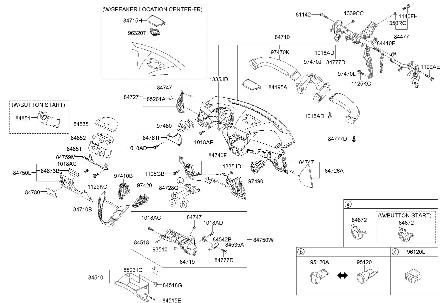 Hyundai Sonata Dash Parts Diagram, Hyundai, Free Engine