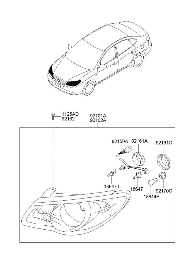 Hyundai Santa Fe Socket. Bulb. Signal. HOLDER. LAMP