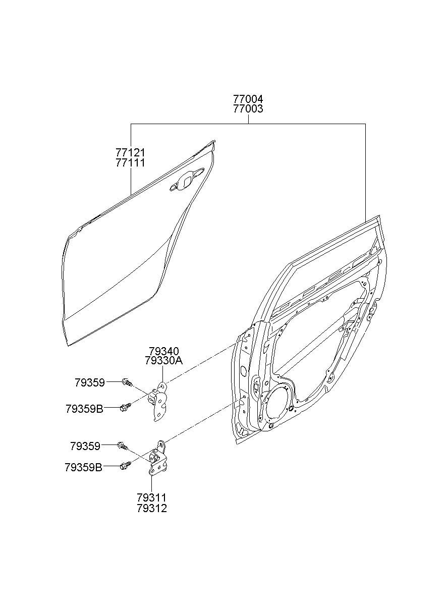 Hyundai Elantra REAR DOOR PANEL