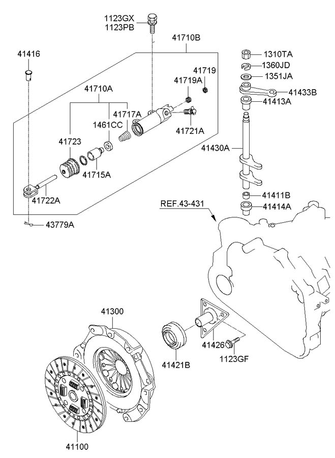 Hyundai Tucson CLUTCH RELEASE FORK (MANUAL TRANSMISSION)