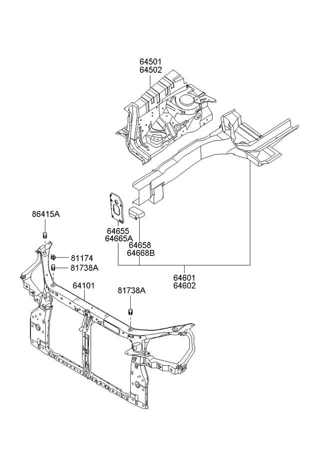 Hyundai Tucson FENDER APRON & RADIATOR SUPPORT PANEL