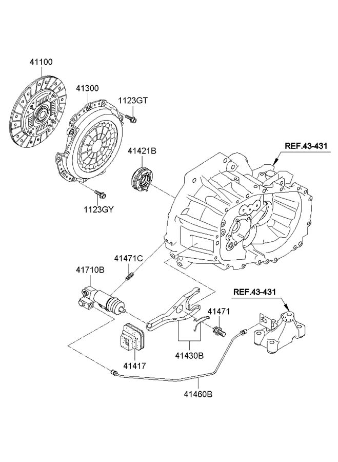 Hyundai Accent CLUTCH RELEASE FORK (MANUAL TRANSMISSION)