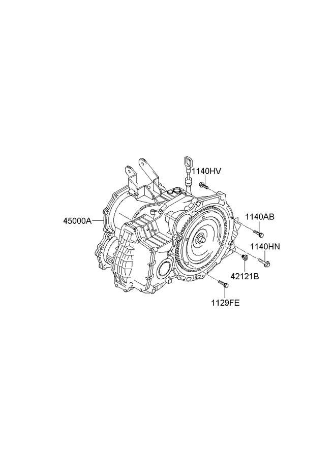 2003 Hyundai Accent Automatic Transmission Diagram